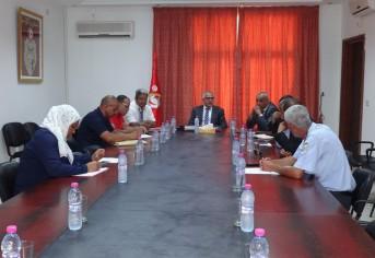 جلسة عمل مع بلديتي الحامة والحبيب ثامر - بوعطوش