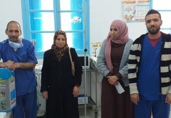 توفير عدة معدات وقائية لحمات الوطن اعوان مركز الامن و الاطار الطبي و الشبه الطبي لمستشفى مطماطة