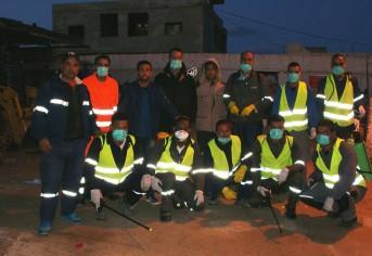مواكبة لعملية التعقيم التي تقوم بها البلدية لشوارع و أحياء مدينة مارث