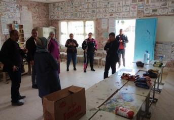 إفتتاح مركز تجميع التبرعات بمدرسة سيدي عبد الرحمان